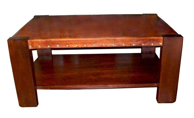 Muebles | Mesa Ratona de Cuero | LZ Cuero